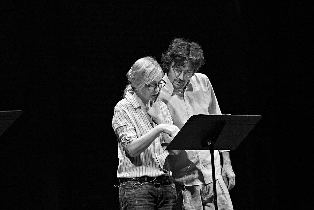 Emmanuelle Béart et Stanislas Nordey | lecture au TNS (septembre 2015)