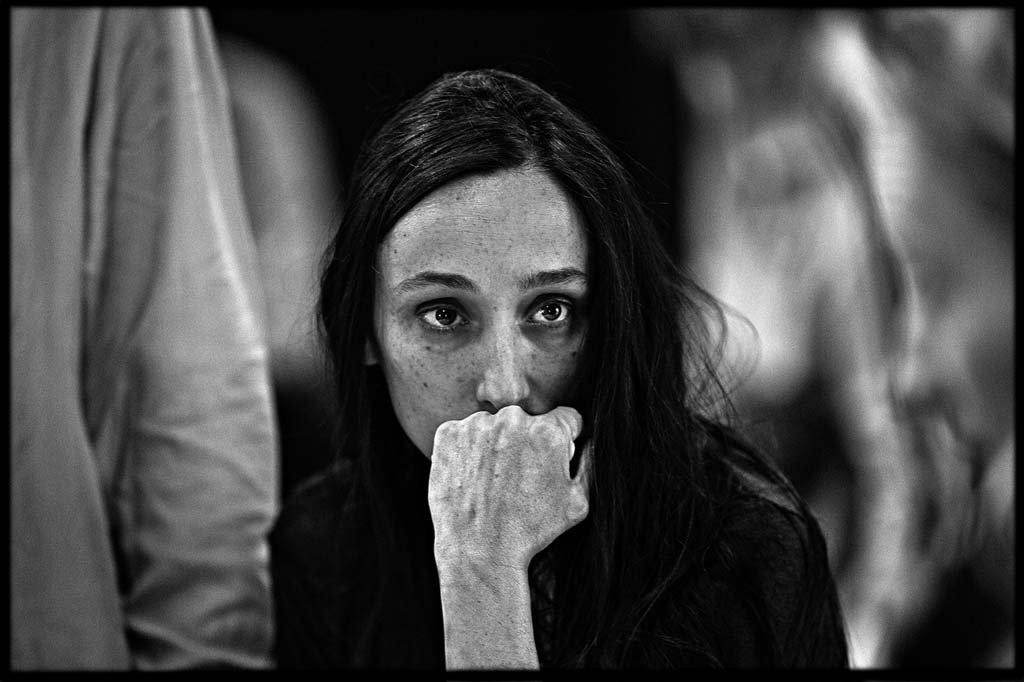 """Audrey Bonnet en répétitions de """"Le Pays lointain"""" de Jean-Luc Lagarce mis en scène par Clément Hervieu-Léger (septembre 2017)"""